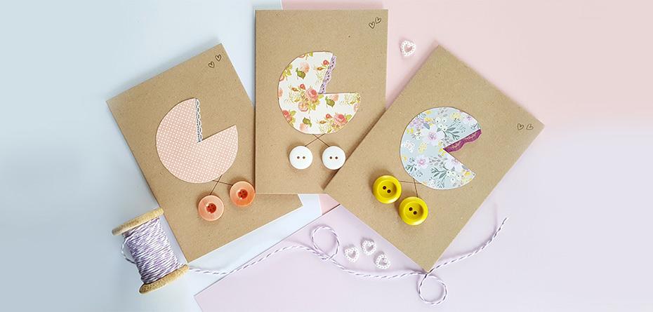 5 ایده کارت دست ساز برای جشنهای دوران بارداری