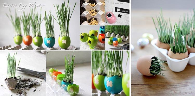 سبزه عید در داخل تخم مرغ