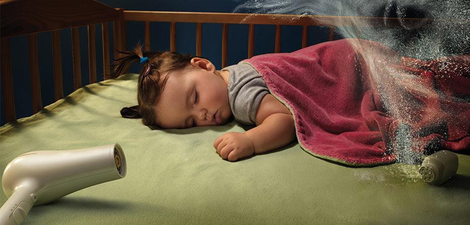 صدای سشوار برای خواب نوزاد، هیولا را خاموش کنید!
