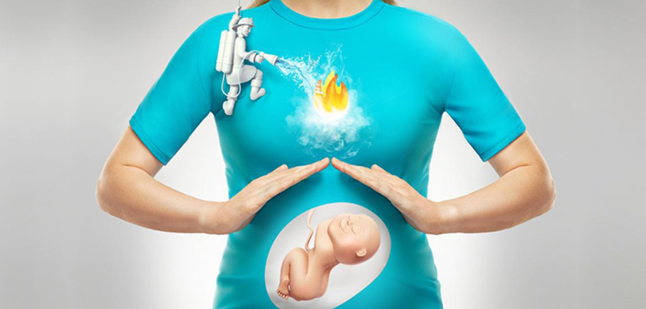 سوزش سر دل در بارداری و راه های درمان خانگی