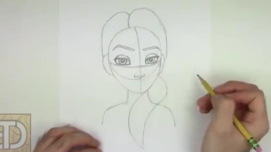 نقاشی السا و انا ساده
